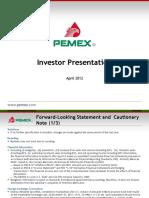 PEMEX Investor Presentation 2012
