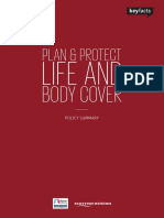Life and Body Cover Policy Summary