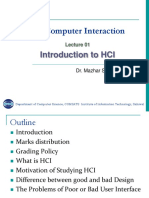 HCI Lecture 1 Introduction