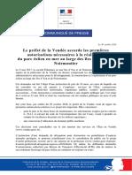 CP Projet de Parc Éolien Au Large de l'Ile d'Yeu Et de Noirmoutier Premières Autorisations 30-10-2018