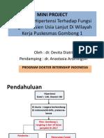 Mini project hubungan hipertensi dengan fungsi kognitif pasien