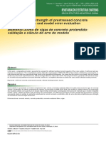 Ultimate Flexural Strength of Prestressed Concrete Beams Validation and Model Error Evaluation