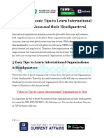 5 Easy Mnemonic Tips to Learn International Organizations and Their Headquarters