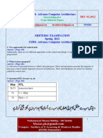 Advance Computer Architecture - CS501 Spring 2012 Mid Term Paper (1).pdf