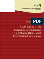 Nism Series III a Securities Intermediaries Compliance Non Fund Exam Workbook
