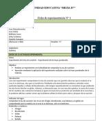 Ficha de de microplanificación lab y  experimentación - Experimento de Lavoisier