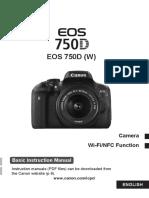 EOS 750D Basic Instruction Manual En