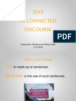 Text as a Connected Discourse