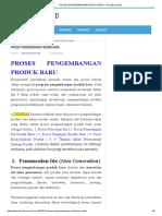 Proses Pengembangan Produk Baru - Ilmu Ekonomi Id
