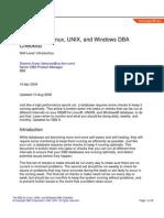 DB2 DBA Checklist
