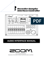 ZOOM R8 Audio Interface manual