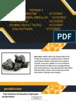 karakteristik batu bara di cekungan bengkulu
