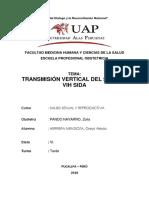 Transmision Vertical Del Sifilis y Vih Sida