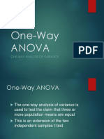 Adl One Way Anova