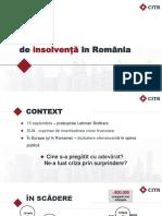 10 ani de insolvență în România