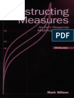 Wilson, Mark (2004). Constructing measures. USA