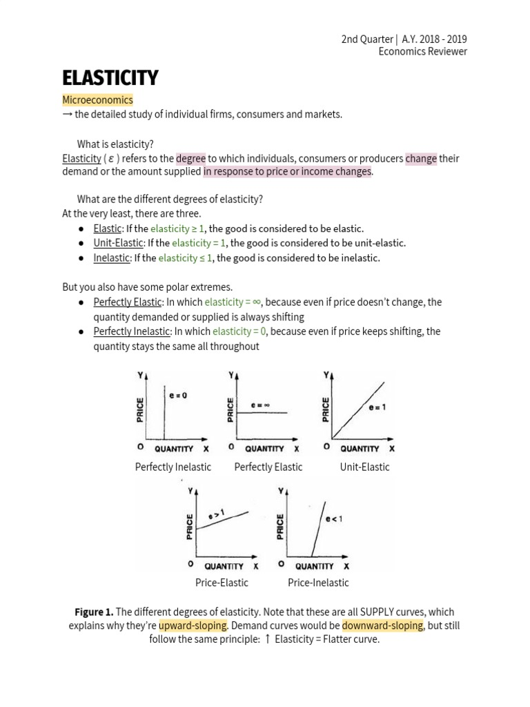 Q2 Econ Notes | Price Elasticity Of Demand | Tax Incidence