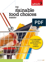Making Sustainable Food Choices Easier