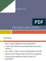 2. Crystals and Lattice 2018