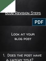 blog revision steps