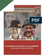 VI Congreso Iberoamericano Psicogerontologia 2015