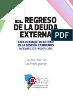 El regreso de la deuda externa - CECS