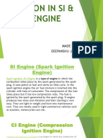 Emissions in Si & Ci Engine