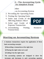 Chapter 2 – the Accounting Cycle in Its Simplest Form