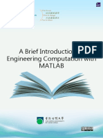 A Brief Introduction to Engineering Computation With MATLAB 28883