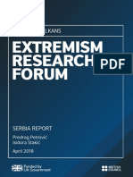 Extremism Research Forum Serbia Report 2018