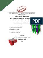 Informe de Albañileria Actual