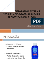 Estudo Comparativo Entre as Teorias Acido-base