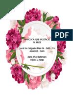 Convite de Aniversário Francisca F. Inocêncio