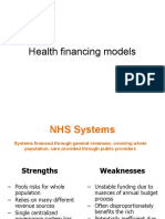 Health Financing Models