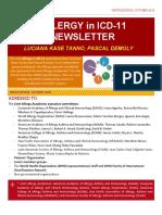Allergy in ICD-11, Newsletter #9