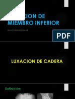 Luxaciones de Cadera y Rodilla