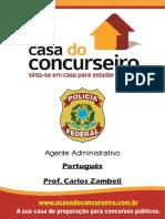 [VM] Apostila Pf Agente Administrativo Portugues Zambeli