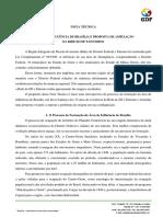 Área de Influência de Brasília e Proposta de Ampliação Da RIDE Do DF e Entorno