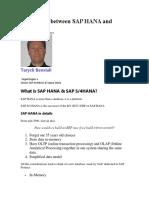 Differences Between SAP HANA and S4HANA