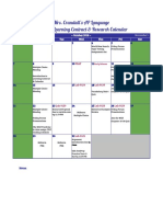 learning contract calendar  2