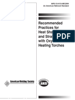 Aws c4.4 c4.4m 2004 Recommended Practices for Heat Shaping and Straightening With Oxyfuel Gas Heating