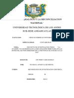 La Evasión y Su Incidencia en La Recaudación Tributaria en La Provincia de Andahuaylas 2016