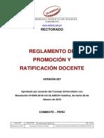Reglamento Promocion Ratificacion Docente v007 ULADECH