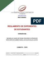Reglamento Expedientes Estudiantes v006 ULADECH