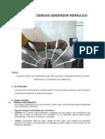 Proyecto de Ciencias Generador Hidraulico