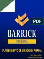 Planeamiento en Pierina