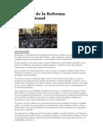 El Futuro de La Reforma Constitucional