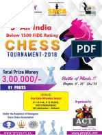 3rd Tetrasoft All India Below 1500 FIDE Rating Chess Tournament - 2018.