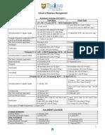 Academic Calendar SBM 2010-11