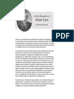 Biografía de Alan Leo